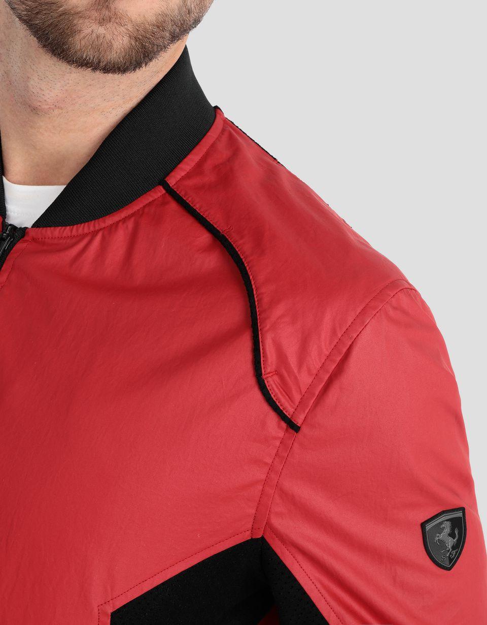 Scuderia Ferrari Online Store - Herren-Bomberjacke mit seitlichen perforierten Einsätzen - Bomber-& Sportjacken