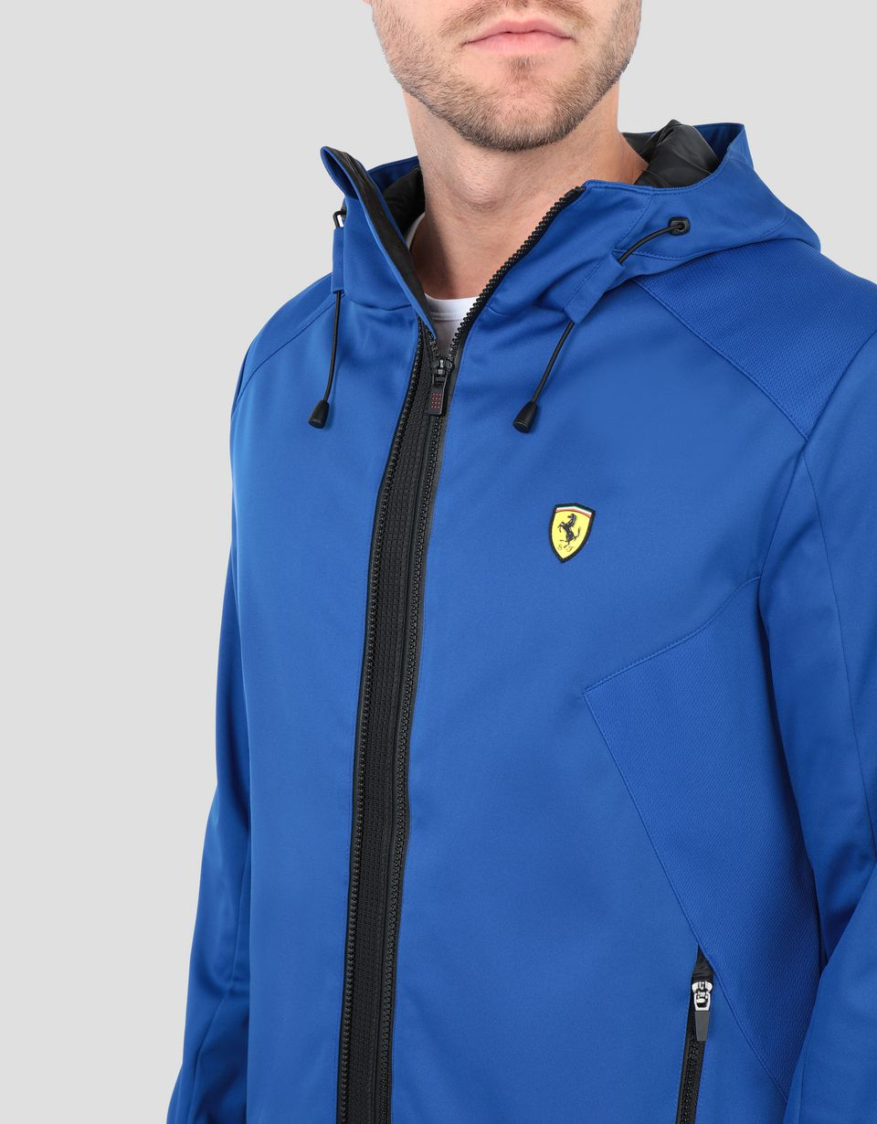 Scuderia Ferrari Online Store - Men's Softshell jacket with hood - Bombers & Track Jackets