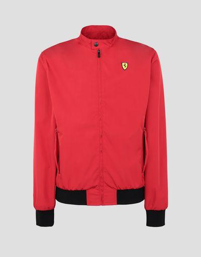 Scuderia Ferrari Online Store - Мужская куртка-бомбер из трёхслойной технической ткани - Бомберы и гоночные куртки