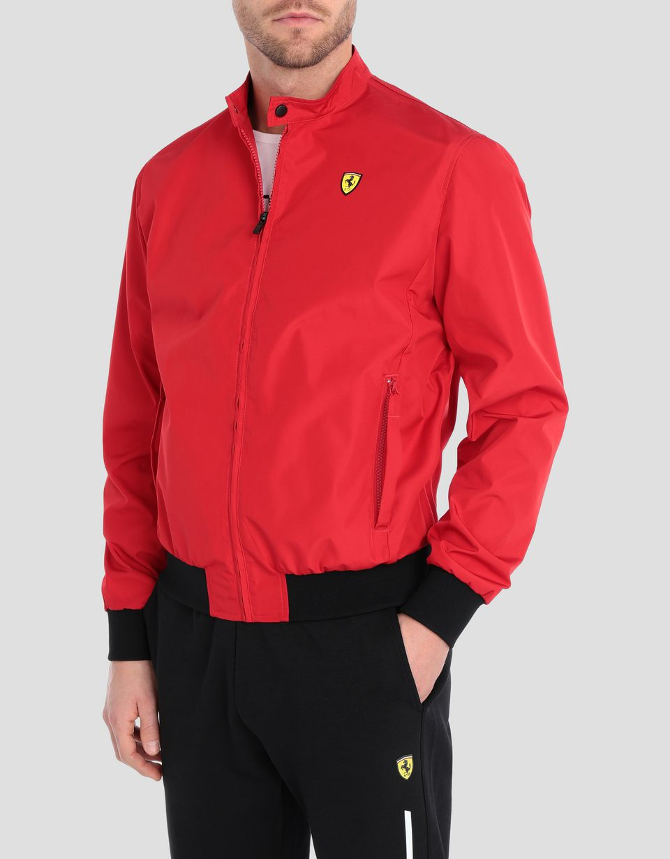 Scuderia Ferrari Online Store - Men's trilayer technical fabric bomber jacket - Bombers & Track Jackets