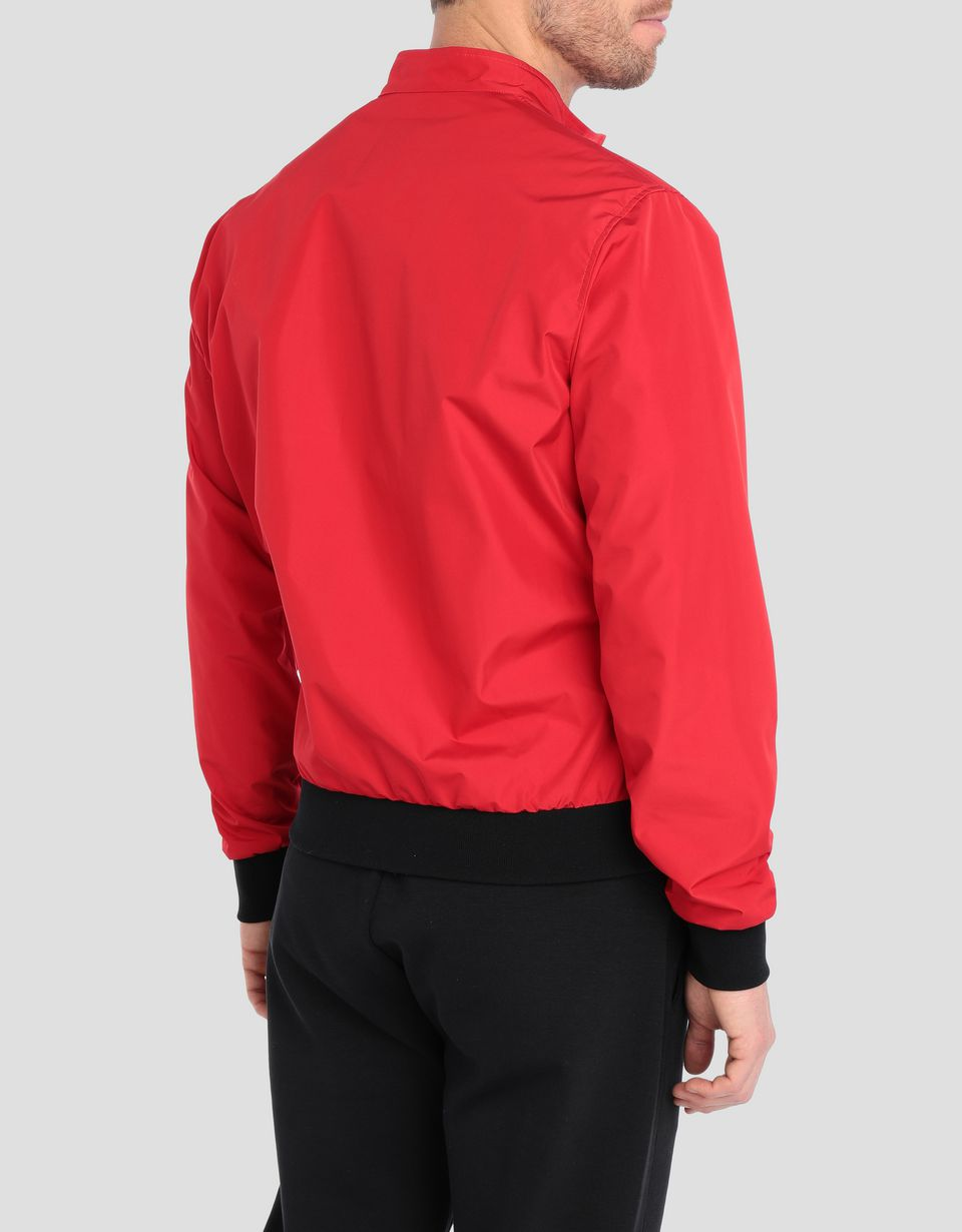 Scuderia Ferrari Online Store - Men's bomber jacket in three-layer technical fabric - Bombers & Track Jackets