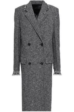 HELMUT LANG Double-breasted wool-blend tweed coat