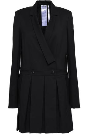 HELMUT LANG Bow-detailed wool mini dress