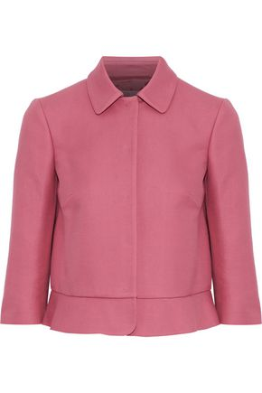 REDValentino Ruffle-trimmed cotton-twill jacket