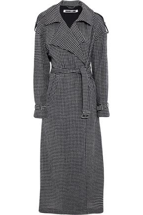 McQ Alexander McQueen Gingham cotton and wool-blend trench coat