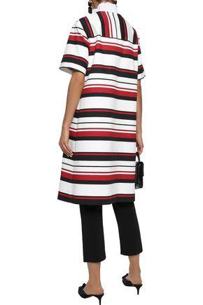 DOLCE & GABBANA Striped cotton-blend gabardine coat