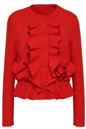 MSGM Ruffled crepe peplum jacket