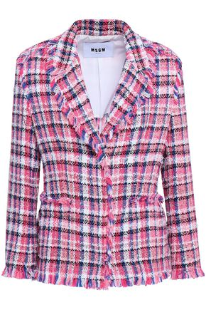 MSGM Checked tweed blazer