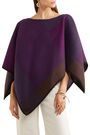 BABJADES Suede-trimmed wool-blend cape