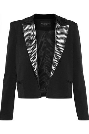 W118 by WALTER BAKER Hunter cropped crystal-embellished faille jacket