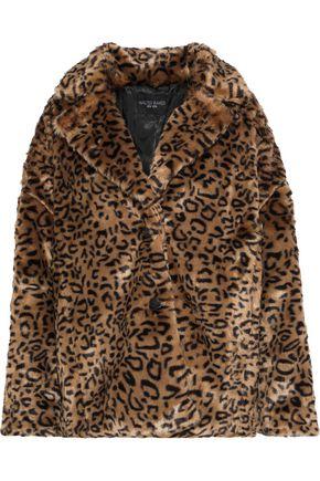 W118 by WALTER BAKER Rosa leopard-print faux fur jacket