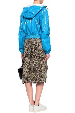 MSGM Crinkled-vinyl hooded jacket