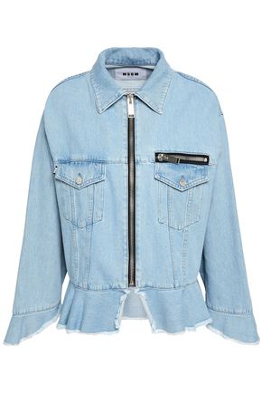 MSGM Frayed denim jacket
