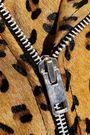 W118 by WALTER BAKER Lonnie leopard-print calf hair biker jacket
