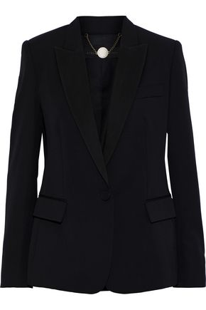 STELLA McCARTNEY Grosgrain-trimmed wool blazer