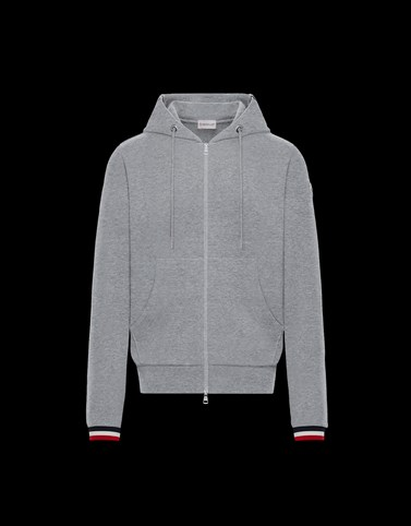 CARDIGAN Grey Category ZIP-UP SWEATSHIRTS Man