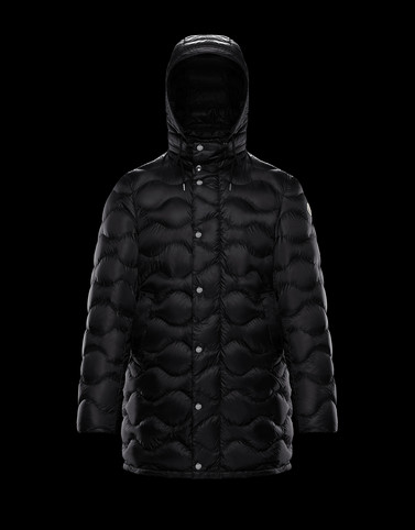 DUBOC Black Down Jackets Man