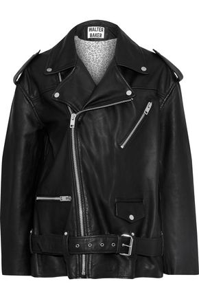 W118 by WALTER BAKER Claude oversized leather biker jacket