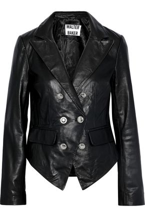 W118 by WALTER BAKER Tamara double-breasted leather jacket