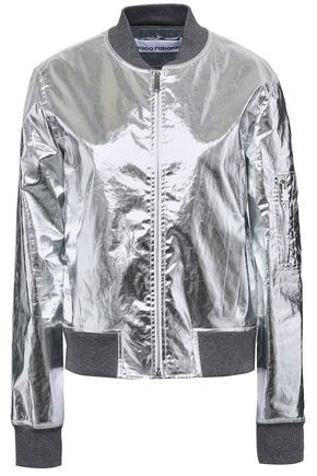 PACO RABANNE Metallic cotton-blend bomber jacket