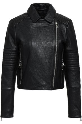 J BRAND Textured-leather biker jacket