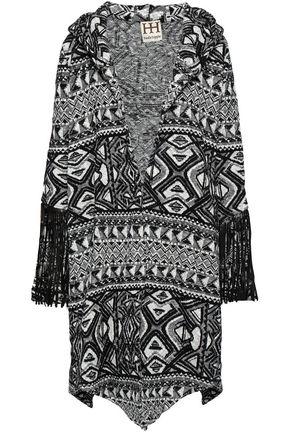 HAUTE HIPPIE Fringed jacquard-knit jacket