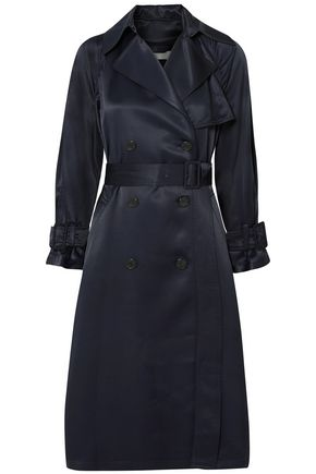 VINCE. Belted satin trench coat