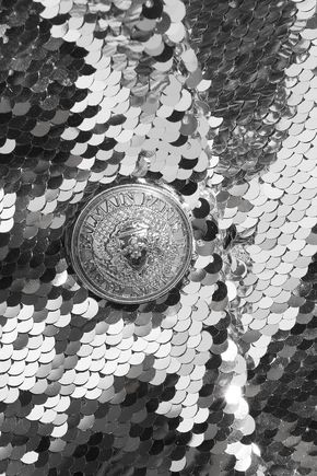 BALMAIN Sequined satin-crepe blazer