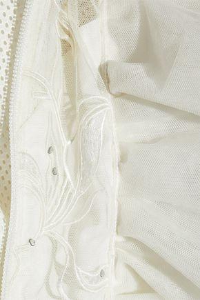 VETEMENTS Embellished ruffled tulle jacket