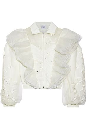VETEMENTS Embellished ruffled tulle jacket