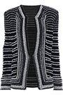 BALMAIN Bead-embellished bouclé-knit jacket