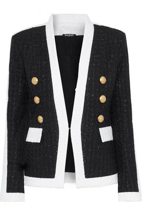 BALMAIN Metallic two-tone bouclé jacket