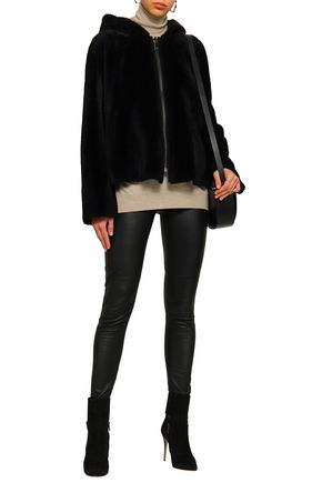 DOM GOOR Reversible shearling hooded jacket