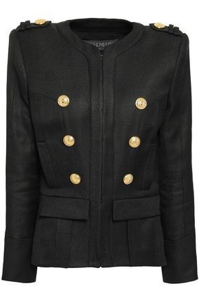 BALMAIN Button-detailed woven jacket