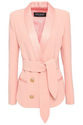 BALMAIN Double-breasted crepe blazer