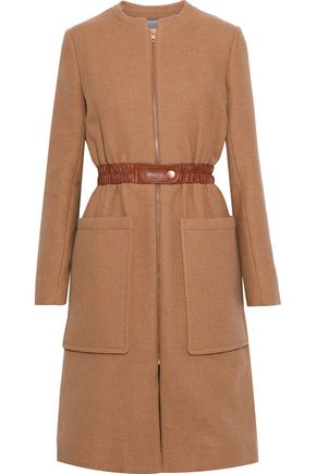 SEE BY CHLOÉ Faux leather-trimmed wool-blend twill coat