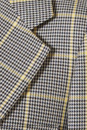 JOSEPH Checked cotton-jacquard blazer