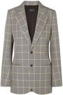 JOSEPH Checked cotton-jacquard blazer