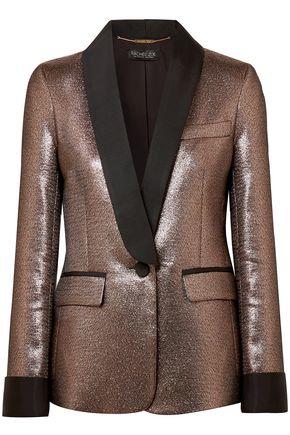 RACHEL ZOE Metallic lamé blazer