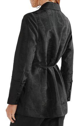 PROTAGONIST Belted moire blazer
