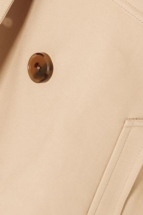 KHAITE Double-breasted cotton-twill jacket