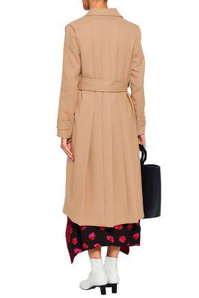 MAJE Gumpy pleated gabardine coat
