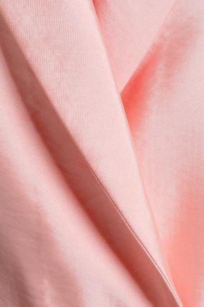MAJE Vasila double-breasted satin-twill blazer