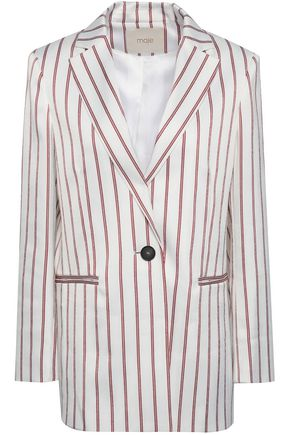 MAJE Vimaly striped cloqué jacket