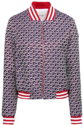 MAJE Boyana floral-jacquard bomber jacket