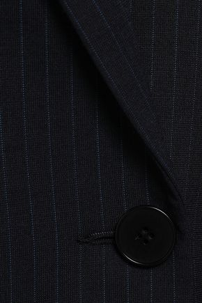 MAJE Valere double-breasted pinstriped crepe blazer
