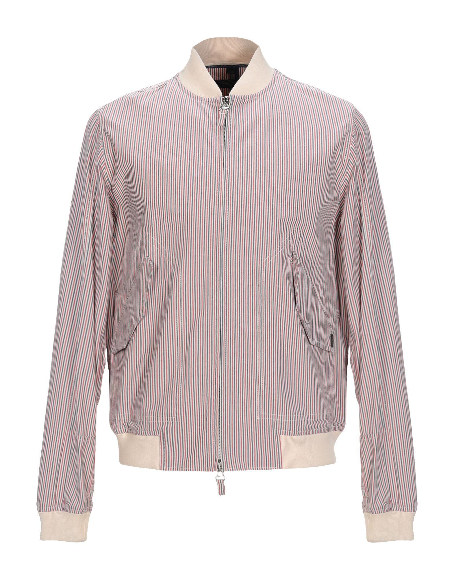 JECKERSON Куртка куртка бомбер короткая в полоску с вышивкой 100