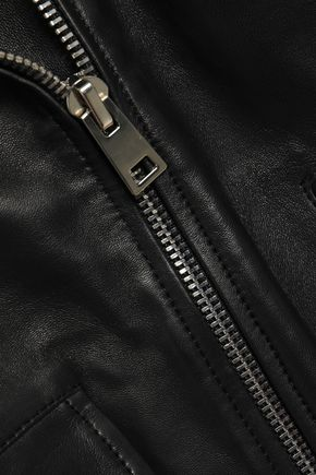 MAJE Leather biker vest