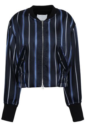 3.1 PHILLIP LIM Striped satin-twill bomber jacket