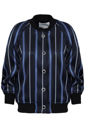 3.1 PHILLIP LIM Striped jacquard bomber jacket